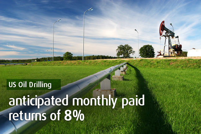 US Oil Drilling Up to $4,500 income per month